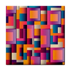 Abstract Background Geometry Blocks Tile Coasters