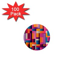 Abstract Background Geometry Blocks 1  Mini Magnets (100 Pack)