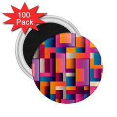 Abstract Background Geometry Blocks 2 25  Magnets (100 Pack)