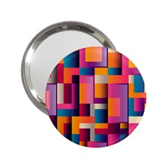 Abstract Background Geometry Blocks 2 25  Handbag Mirrors