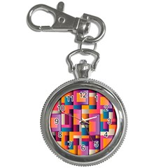 Abstract Background Geometry Blocks Key Chain Watches