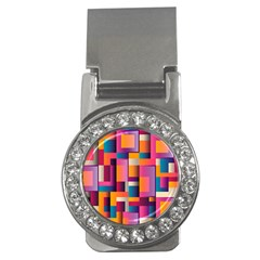 Abstract Background Geometry Blocks Money Clips (cz)