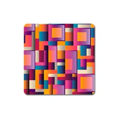 Abstract Background Geometry Blocks Square Magnet
