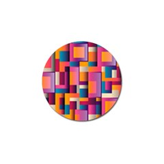Abstract Background Geometry Blocks Golf Ball Marker