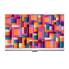 Abstract Background Geometry Blocks Business Card Holders