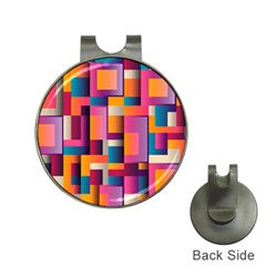 Abstract Background Geometry Blocks Hat Clips With Golf Markers