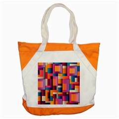 Abstract Background Geometry Blocks Accent Tote Bag