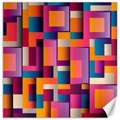 Abstract Background Geometry Blocks Canvas 16  X 16