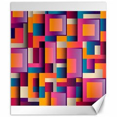 Abstract Background Geometry Blocks Canvas 20  X 24