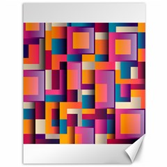Abstract Background Geometry Blocks Canvas 36  x 48