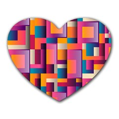 Abstract Background Geometry Blocks Heart Mousepads