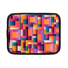 Abstract Background Geometry Blocks Netbook Case (small)