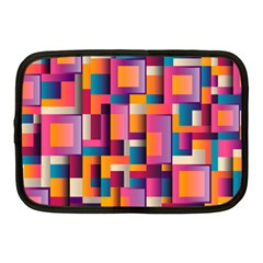 Abstract Background Geometry Blocks Netbook Case (medium)