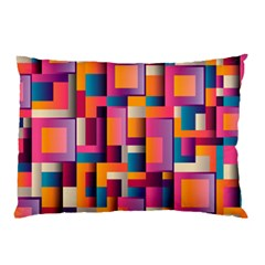 Abstract Background Geometry Blocks Pillow Case