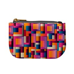 Abstract Background Geometry Blocks Mini Coin Purses