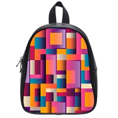 Abstract Background Geometry Blocks School Bags (small)