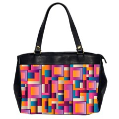 Abstract Background Geometry Blocks Office Handbags (2 Sides)