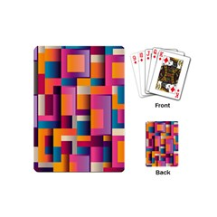 Abstract Background Geometry Blocks Playing Cards (mini)
