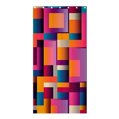 Abstract Background Geometry Blocks Shower Curtain 36  X 72  (stall)