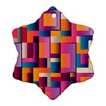 Abstract Background Geometry Blocks Ornament (Snowflake) Front