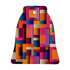 Abstract Background Geometry Blocks Bell Ornament (two Sides)
