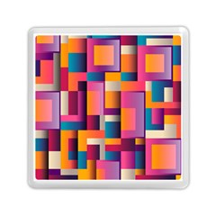 Abstract Background Geometry Blocks Memory Card Reader (square)