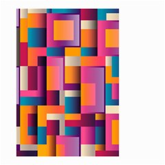 Abstract Background Geometry Blocks Small Garden Flag (two Sides)