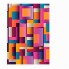 Abstract Background Geometry Blocks Large Garden Flag (two Sides)