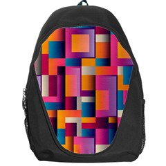Abstract Background Geometry Blocks Backpack Bag