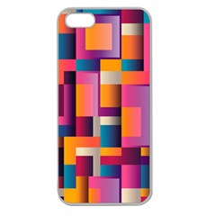 Abstract Background Geometry Blocks Apple Seamless Iphone 5 Case (clear)