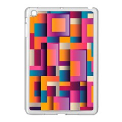 Abstract Background Geometry Blocks Apple Ipad Mini Case (white)