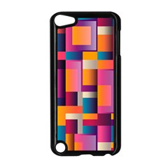 Abstract Background Geometry Blocks Apple Ipod Touch 5 Case (black)