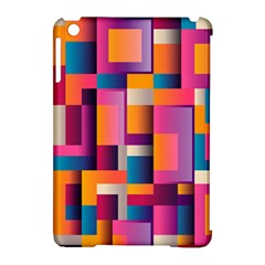 Abstract Background Geometry Blocks Apple Ipad Mini Hardshell Case (compatible With Smart Cover)