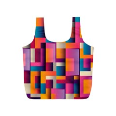 Abstract Background Geometry Blocks Full Print Recycle Bags (s)