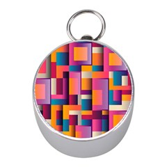 Abstract Background Geometry Blocks Mini Silver Compasses