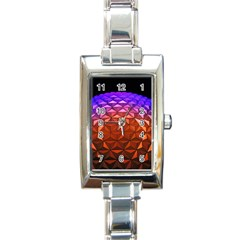 Abstract Ball Colorful Colors Rectangle Italian Charm Watch