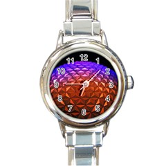 Abstract Ball Colorful Colors Round Italian Charm Watch