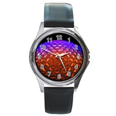 Abstract Ball Colorful Colors Round Metal Watch