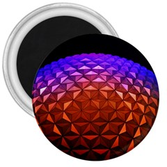 Abstract Ball Colorful Colors 3  Magnets