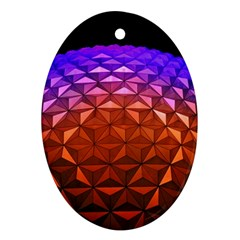 Abstract Ball Colorful Colors Ornament (oval)