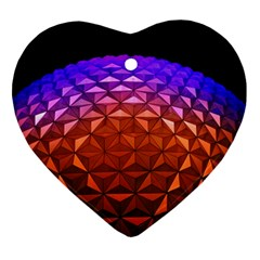 Abstract Ball Colorful Colors Ornament (heart)