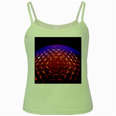 Abstract Ball Colorful Colors Green Spaghetti Tank