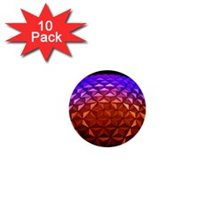 Abstract Ball Colorful Colors 1  Mini Buttons (10 Pack)
