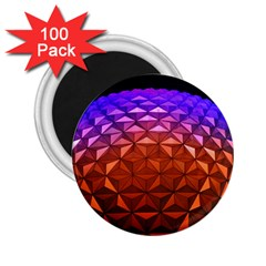 Abstract Ball Colorful Colors 2 25  Magnets (100 Pack)