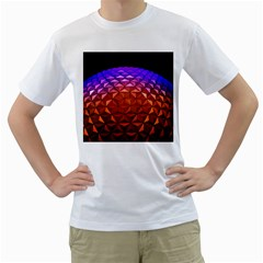Abstract Ball Colorful Colors Men s T Shirt (white) (two Sided)
