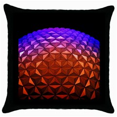 Abstract Ball Colorful Colors Throw Pillow Case (black)