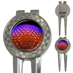 Abstract Ball Colorful Colors 3 In 1 Golf Divots