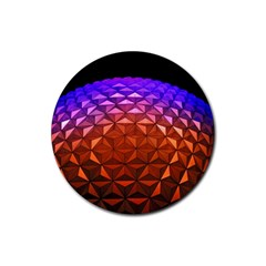Abstract Ball Colorful Colors Rubber Coaster (round)