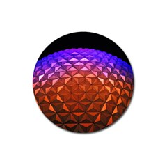 Abstract Ball Colorful Colors Magnet 3  (round)