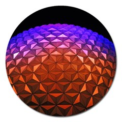 Abstract Ball Colorful Colors Magnet 5  (round)